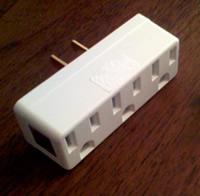 triple-tap AC adapter